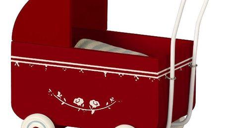 Maileg Dřevěný kočárek pro zvířátka Maileg MY Red, červená barva, dřevo