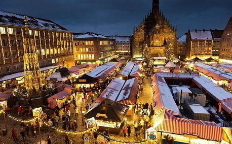 Adventní Norimberk, autobusem za trhy, památkami a nákupy