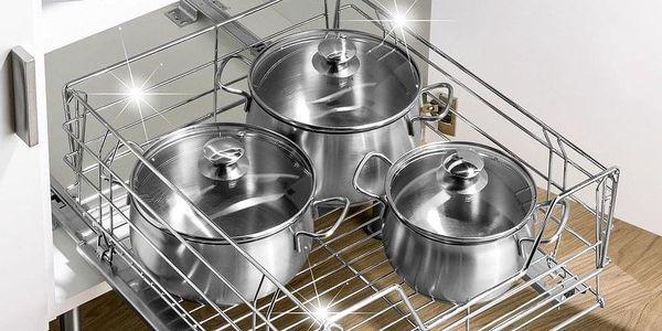 Kovový koš pod kuchyňskou desku, ORGANIZER pro kuchyňské náčiní, WENKO