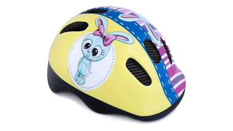 Spokey BUNNY Dětská cyklistická přilba, 44-48 cm