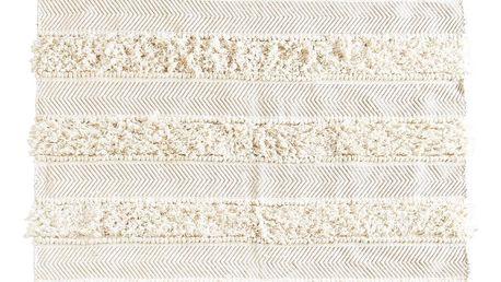 MADAM STOLTZ Koberec Chindi Off white/Gold 120x180 cm, měděná barva, zlatá barva, krémová barva, textil