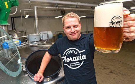Prohlídka pivovaru Moravia s degustací a jídlem