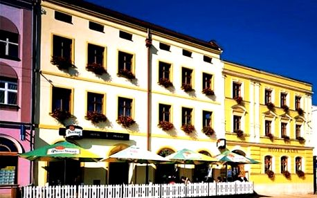 Ubytování v 3*hotelu Praha pro dva snídaně, vydatné čtyřchodové večeře. Úschova kol.
