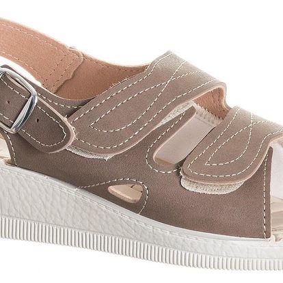 Darina Dámské sandály Komfort gelová stélka na suché zipy