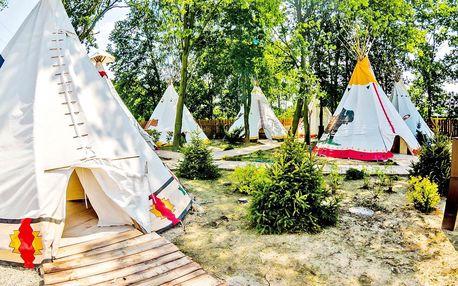 Rodinné indiánské dobrodružství v teepee v Polsku