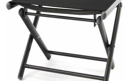 Garthen 40605 Hliníková zahradní stolička - skládací celá černá