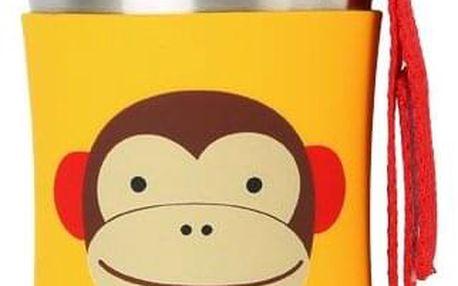 SKIP HOP Zoo Láhev na vodu nerezová 350 ml - Opička