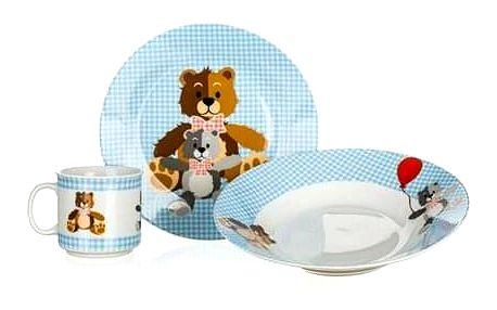 BANQUET Dětská jídelní sada MEDVÍDCI, 3 ks, modrá 60TB002-B