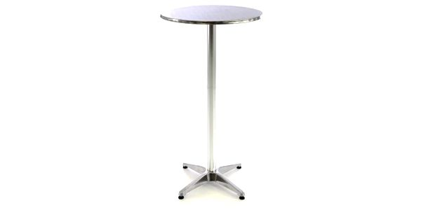 Garthen 46980 Barový stůl 115 cm kulatý - stříbrný