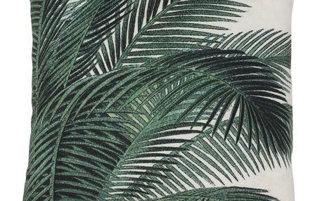 HK living Polštář Palm leaves 45x45, zelená barva, textil
