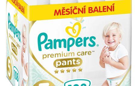 PAMPERS Premium Care Pants 5 JUNIOR (12-17 kg) 108 ks MĚSÍČNÍ ZÁSOBA – plenkové kalhotky