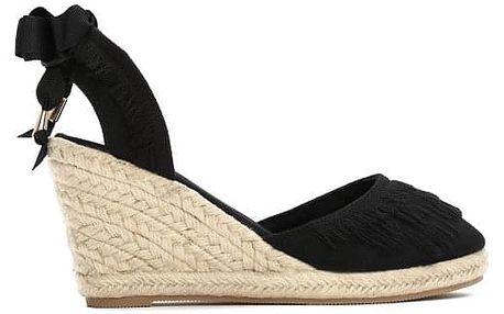 Dámské černé sandály na klínku Deanna 2071