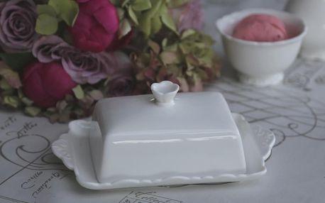 Chic Antique Máselnička Provence, bílá barva, keramika