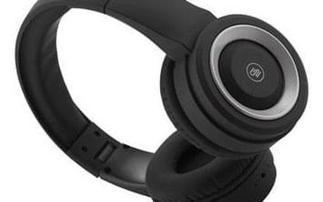 Sluchátka GoGEN HBTM 31S černá/stříbrná (HBTM31S)