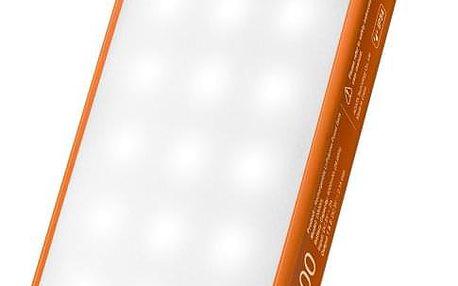 Powerbank ADATA D8000L 8000mAh, outdoor LED svítilna oranžová (AD8000L-5V-COR)