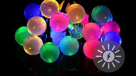 Garthen 36746 Solární světelný řetěz 20 LED barevné - blikající funkce