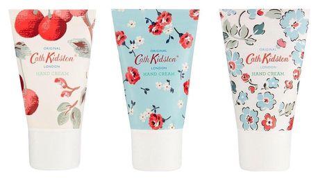 Cath Kidston Sada mini krémů na ruce Cherry Spring - 3x30 ml, růžová barva, plast