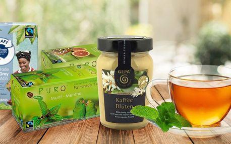 Fair trade čaje a medy z kávy i eukalyptovníku
