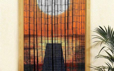 Bambusový závěs Západ slunce, 90x200 cm, WENKO