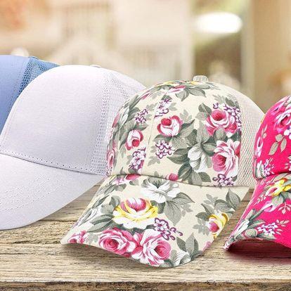 Dámské čepice s kšiltem v letních barvách