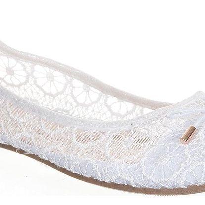 Cathay Moda Dámské baleríny klasické krajkové lesklé 36-42