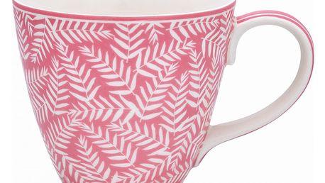 GREEN GATE Porcelánový hrnek Milla Rose, růžová barva, porcelán