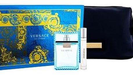 Versace Man Eau Fraiche 100 ml sada toaletní voda 100 ml + toaletní voda 10 ml + kosmetická taška pro muže