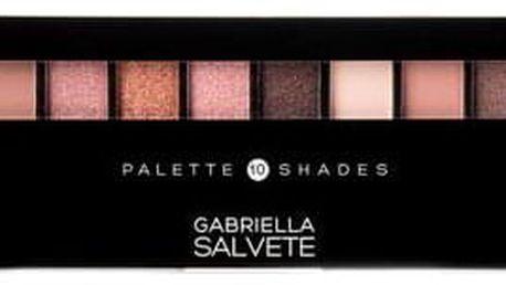 Gabriella Salvete Palette 10 Shades paletka očních stínů 12 g odstín 01 Rose pro ženy