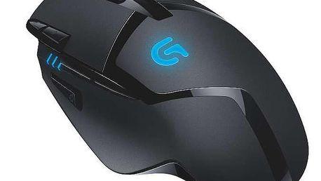 Myš Logitech Gaming G402 Hyperion Fury černá (/ laserová / 8 tlačítek / 4000dpi) (910-004067)