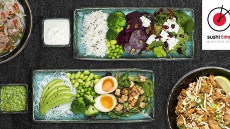 500 nebo 1000 Kč na cokoli z menu v Sushi Time