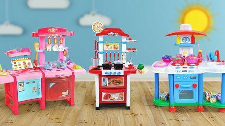 Domečky pro panenky a dětské kuchyňky s doplňky