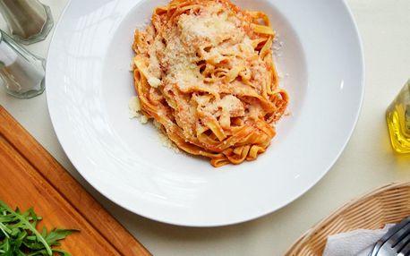 Domácí těstoviny dle výběru a hovězí carpaccio