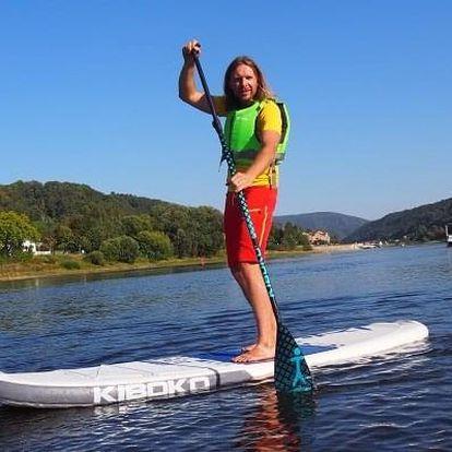 Na paddle boardu a koloběžce Českým Švýcarskem