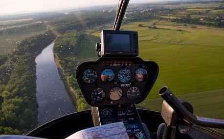 Let vrtulníkem R44 pro 3 osoby - 10 minut