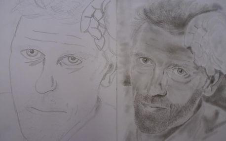 """Kresba portrétu """"pravou hemisférou"""""""