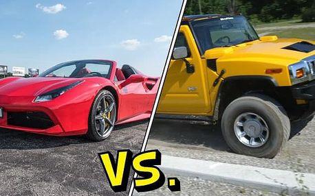 Ferrari 488 Spider versus Hummer H2