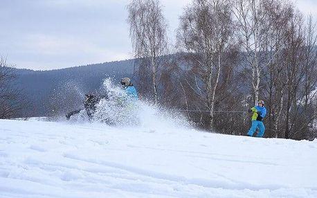 Motoskijöring - adrenalin na lyžích