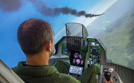 Simulátor F16 s armádním pilotem - 60 min.