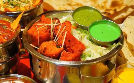 3chodové indické menu pro 2: vege i masové