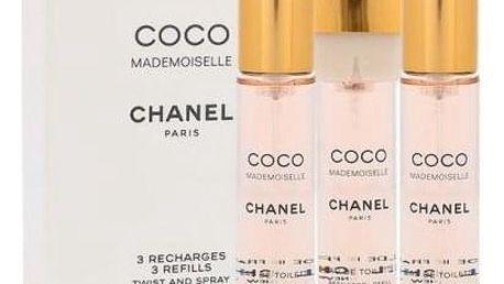 Chanel Coco Mademoiselle 3x20 ml toaletní voda Náplň pro ženy miniatura