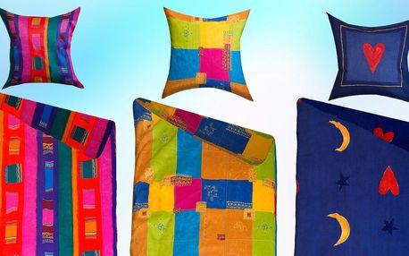 Bavlněná barevná povlečení v 5 veselých vzorech