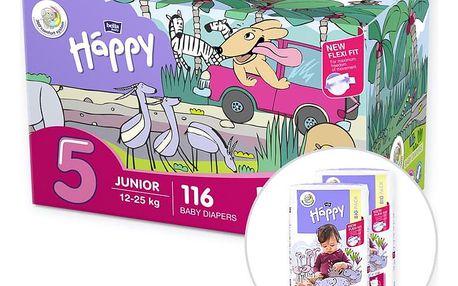 BELLA HAPPY Junior 5 Big TOY BOX (12-25 kg) 116 ks – jednorázové plenky