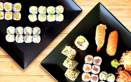 24 ks vege sushi nebo sety s lososem i tuňákem