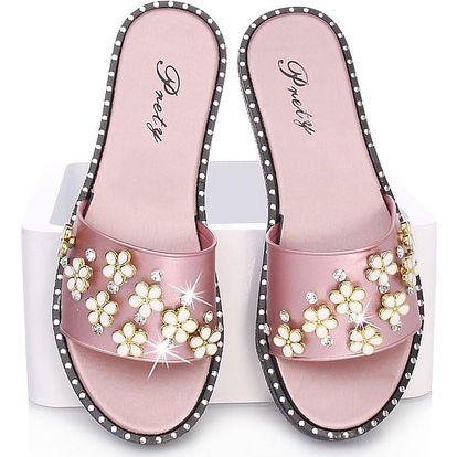 Prety Pantofle dámské G27-1PI Velikost: 37 (23,2 cm)