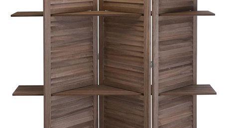 Home Styling Collection Paravan z poličkami - dřevěný