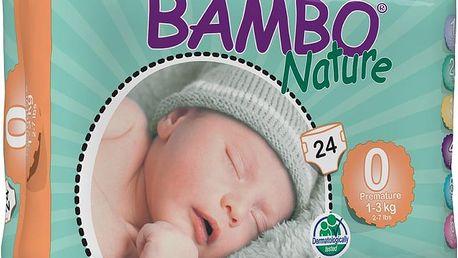 BAMBO Nature Premature (1-3kg) 24ks - jednorázové pleny