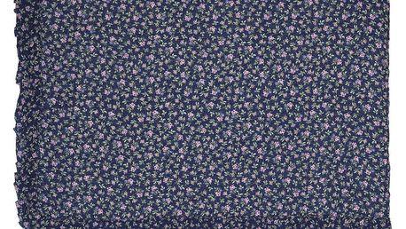 GREEN GATE Prošívaný přehoz Berta dark blue 140x220cm, modrá barva, textil