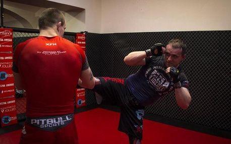 Trénink bojového umění K-1 se zápasníkem