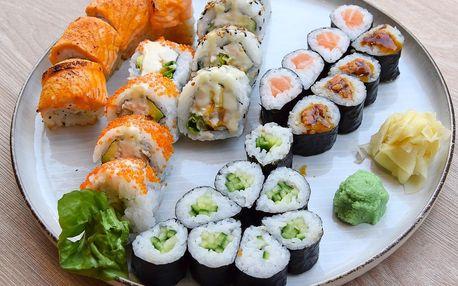 28 ks sushi pro 2 osoby: losos i krabí krém