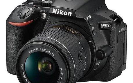 Nikon D5600 + 18-55 AF-P VR černý (VBA500K001)